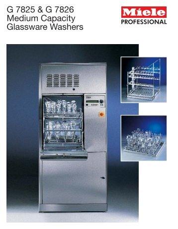 G 7825 & G 7826 Medium Capacity Glassware Washers