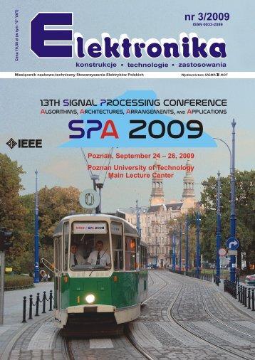 Elektronika 2009-03.pdf - Instytut Systemów Elektronicznych