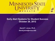 Early Alert Systems for Student Success - Academic & Student Affairs
