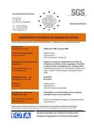 EUROPÄISCHE TECHNISCHE ZULASSUNG ETA-07/0124 - Saba