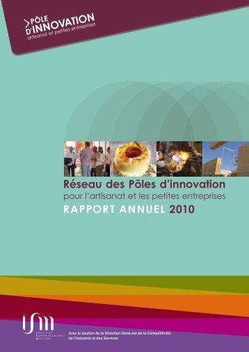 Réseau des Pôles d'innovation RaPPoRt annuel 2010 - Institut ...
