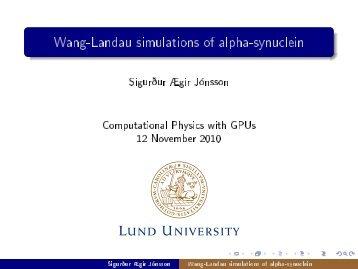 Wang-Landau simulations of alpha-synuclein