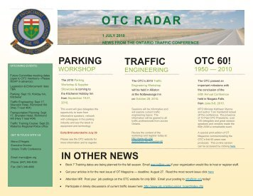 July 2010 - Ontario Traffic Conference