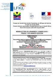 newsletter du vendredi 12 mars 2010 / friday 12th march edition