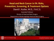 Head and Neck Cancer in FA