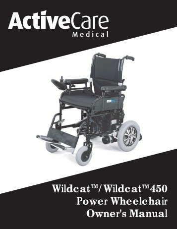 Wildcat /Wildcat 450 Power Wheelchair Owner's Manual