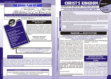 June 2009 PDF - The Divine Plan of the Ages