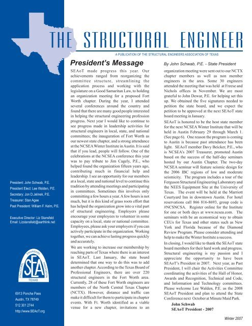 THE STRUCTURAL ENGINEER - SEAoT