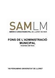 Fitxa del Fons - Ajuntament de Lloret de Mar