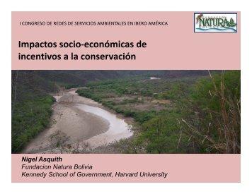 Impactos socio-económicas de incentivos a la conservación