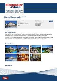 Hotel Leamwirt *** - Ferienregion Hohe Salve