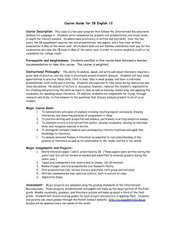Ib english paper 1 essay structure