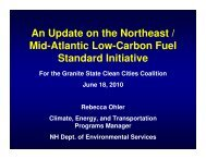Low Carbon Fuel Standard Presentation - Granite State Clean Cities ...