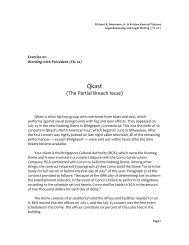 Precedent Exercise - Qkast (Ch. 10)