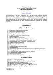Prüfungsordnung für den Bachelor-Studiengang Chemie der ...