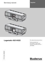 Servisný návod Logamatic 4321/4322 - Buderus
