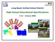 High School Educational Specifications - Long Beach Unified ...