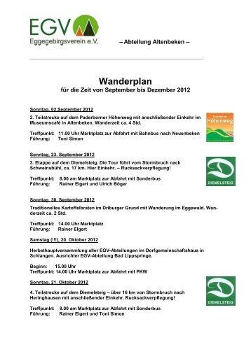 Wanderplan - Altenbeken