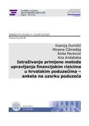 Istraživanje primjene metoda upravljanja financijskim rizicima u ...