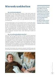 Nierenkrankheiten - Medicines for Mankind
