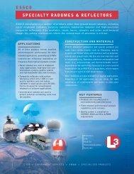 essco specialty radomes & reflectors - L-3 Communications