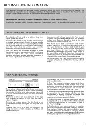 Balanced Fund Key Investor Information Document - RBS