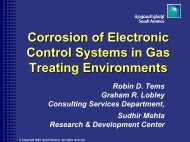Corrosion of Electronic Control Systems in Gas Treating Environments