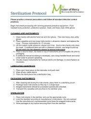 Sterilization Protocol