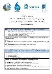 Provisional Program - 6th World Water Forum