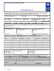 P11 Personal History Form