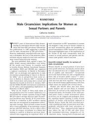 Male Circumcision: Implications for Women as Sexual Partners and ...