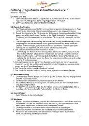 Die Satzung als PDF - Togo-Kinder Zukunftschance eV