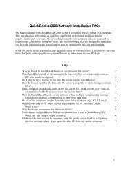 QuickBooks 2006 Network Installation FAQs - Support - Intuit