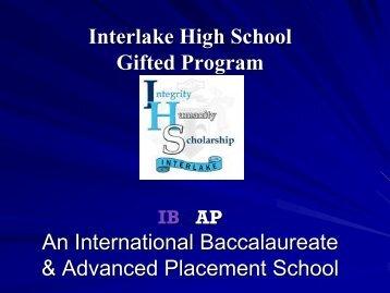 Interlake High School Gifted Program An International ...
