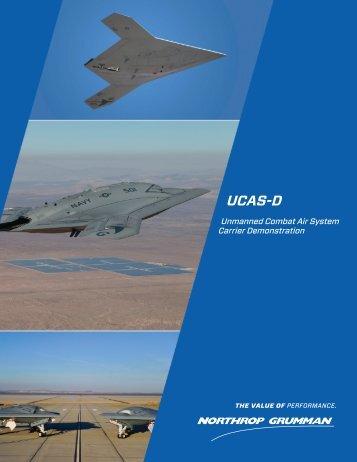 X-47B UCAS Data Sheet - Northrop Grumman Corporation