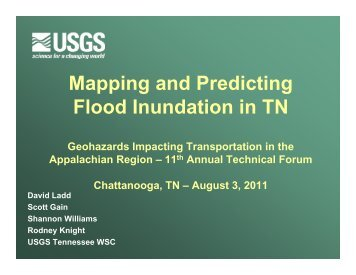 Mapping and Predicting Flood Inundation in TN