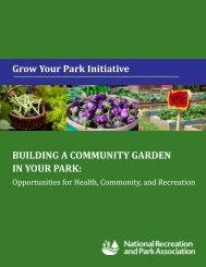 BUILDING A COMMUNITY GARDEN IN YOUR PARK - National ...