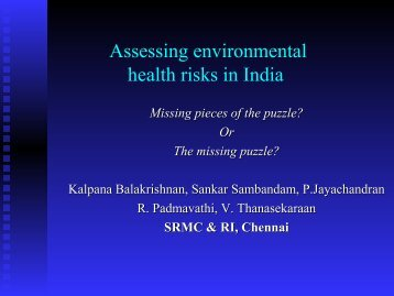 Building the database for assessing environmental health risks