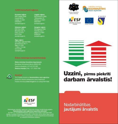 Informatīvais materiāls - Nodarbinātības Valsts Aģentūra