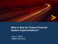 36. What's Next for Federal Financial Management ... - PDI 2012