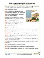 Chef Solus Common Cooking Vocabulary - Nourish Interactive