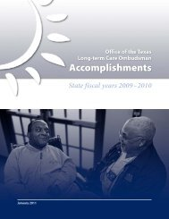 Accomplishments - The Texas Department of Aging and Disability ...