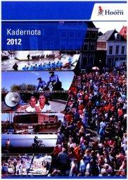 Kadernota 2012 - Gemeente Hoorn