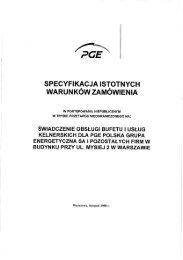 Specyfikacja Istotnych Warunków Zamówienia - PGE