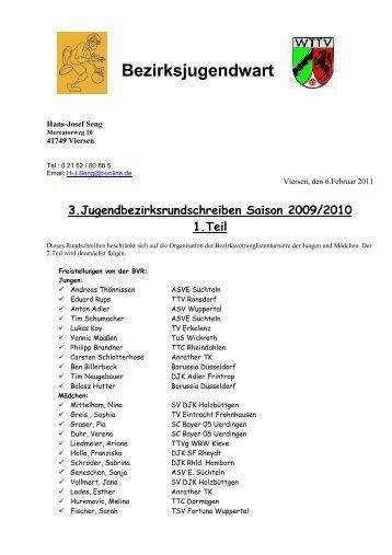 Bezirksjugendwart - Siegelonline.de