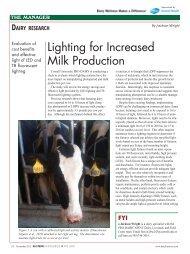 Lighting for Increased Milk Production - Cornell University