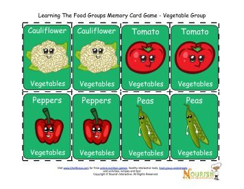 kids-food group-memory-game-cards-food cards-vegetables