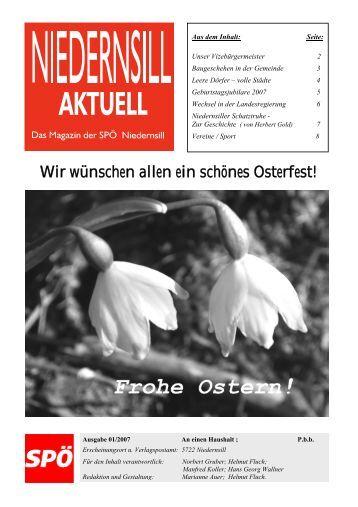 Ausgabe 01/2007 - SPÖ-Niedernsill