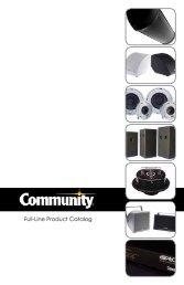 Full-Line Product Catalog - Community Professional Loudspeakers