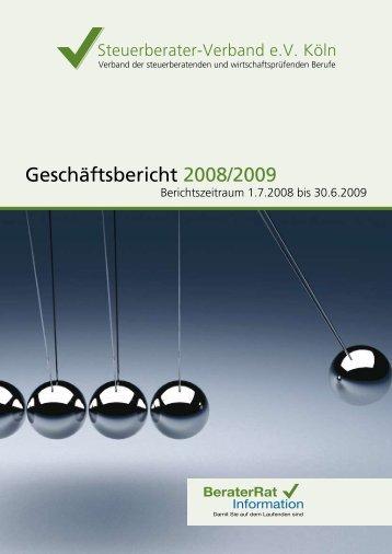 Geschäftsbericht des Steuerberater Verbandes 2008/2009